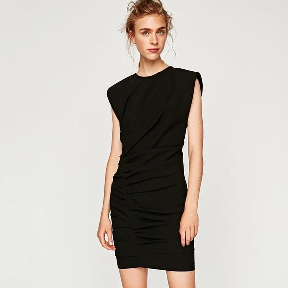 a24b77f9 Zara Dresses   Mini Draped Dress   Poshmark